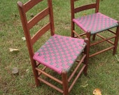 Two Shaker Tape Chairs