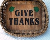 Give Thanks Small Handwoven Basket