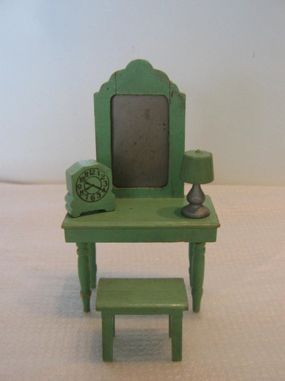 1950 S Wood Furniture ~ S wooden doll house furniture pieces by tbravovintage