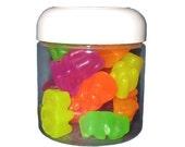 Gummi Bear Glycerin Soaps - 20 Fruity Bears In A Jar