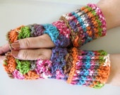 Fingerless Gloves Crochet  pattern, How to crochet Fingerless Gloves or wristers, PDF digital download , DIY