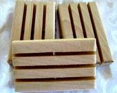 Wood Soap Dishes,  Soap Decks,   3 pack, w2