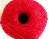 Aunt Lydias Iced Bamboo thread,  size 3 thread, red bamboo thread with metallic wrap