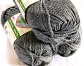 Eco Ways yarn, Plarn, storm grey, made from recycled plastics, worsted weight