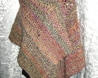 Ruana Wrap or Blanket Shawl, PDF Crochet Pattern, Your Hook Your Yarn series, Digital download, Tabard