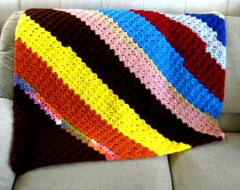 Corner to Corner Shell Afghan Crochet Pattern, lap blanket, large blanket pattern, PDF Digital download
