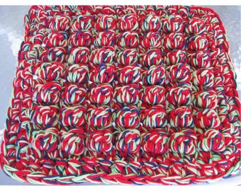 Crocheted  Chair Cushion, stadium seat, wheelchair pad, pet bed, PDF Crochet  Pattern, digital download