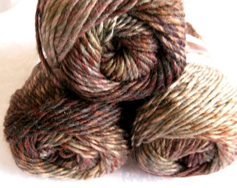 Boutique Treasure yarn in PORTRAIT, subtle shades of browns, Red Heart, Wool blend yarn, worsted weight