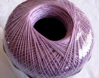 Aunt Lydias Classic Crochet Cotton Thread, WOOD VIOLET, size 10, light purple crochet thread