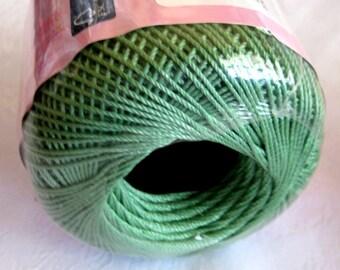 Aunt Lydias Fashion Crochet thread, SAGE Green thread, Size 3, cotton thread, 625
