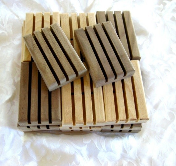 Wood Soap Dishes, Soap Decks,  20 pack, wholesale priced, B8