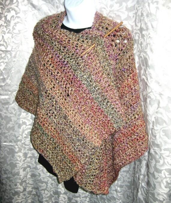 Ruana Wrap or Shawl PDF Crochet Pattern Your Hook por crochetgal