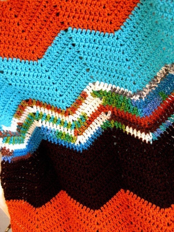 Easy Afghan Crochet pattern Chevron pattern by crochetgal ...