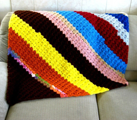 Corner to Corner Shell Afghan Crochet Pattern lap by ...