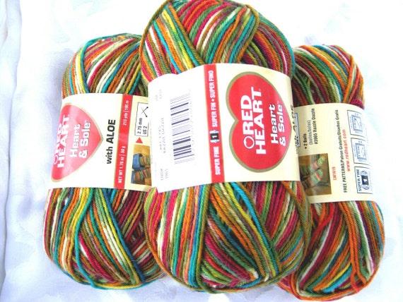 superwash wool sock yarn, Razzle Dazzle, Heart and Sole, fingering weight