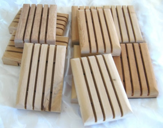 Wooden Soap Dishes, handcrafted,  package of 10, w3