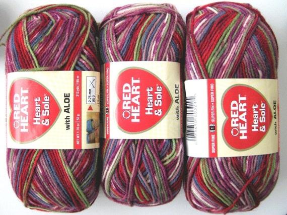 superwash wool sock yarn with aloe, self striping yarn, mauve tones, Heart and Sole Berry Bliss