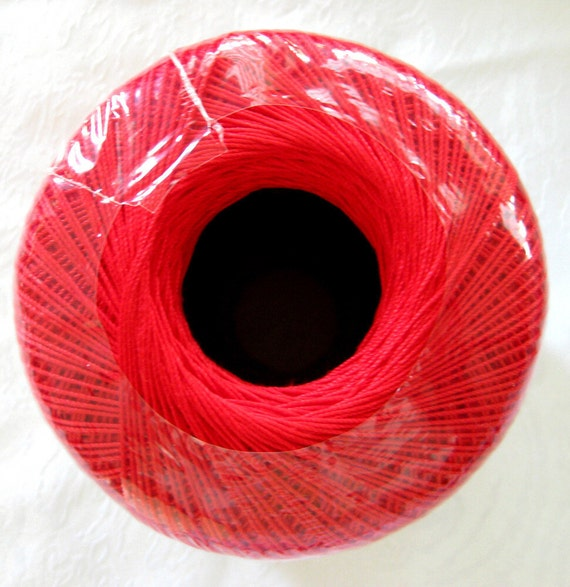 Aunt Lydias Crochet Thread, Pagoda Red crochet cotton, size 10, classic cotton thread