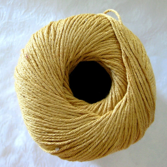 Aunt Lydias Old Gold Bamboo Thread, size 3, a dark golden mustard yellow shade