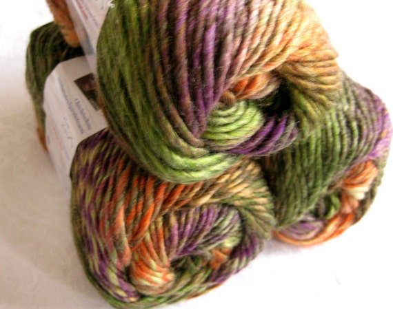 Boutique Treasure yarn in TAPESTRY, shades of mauve brown green, Wool blend yarn, worsted weight, Red Heart Boutique