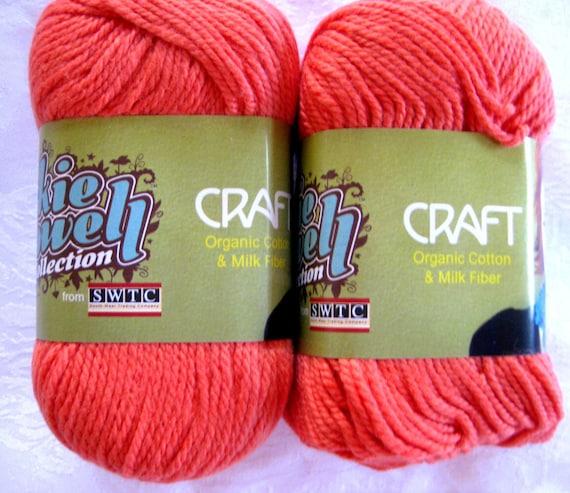 Orange Organic Cotton yarn, pumpkin orange yarn,  SWTC Craft Libby, 7 balls RESERVED