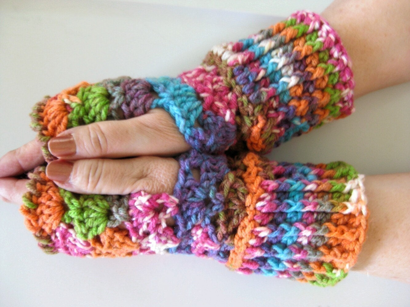 Crochet Patterns Gloves Fingerless : Fingerless Gloves Crochet pattern How to crochet by crochetgal