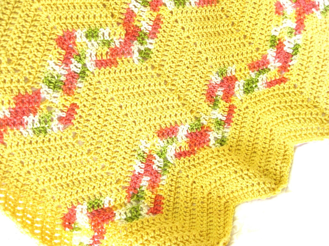 Easy Ripple Crochet Afghan Pattern Suitable For By Crochetgal