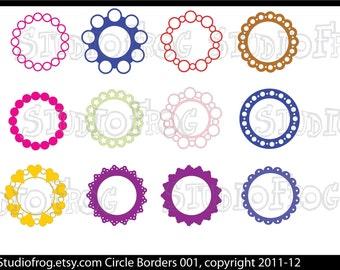 26 Circle Borders SVG Bundle