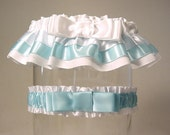 The ORIGINAL TAILORED garter  weddingT2 tone Your color choice