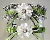 KIWI KISSES style garter set COMBO 2 a Peterene original design Damask