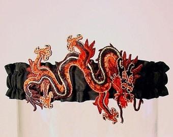 wedding garter DRAGON LADY  A PETERENE original design Chinese
