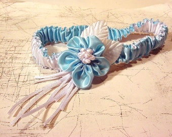 MOBIUS STRIP garter for WEDDING  you CHOOSE YOUR COLORS