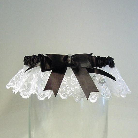 White Wedding Garter: Wedding Garter Black And White Wedding Garter A PETERENE