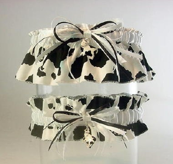 Funny Wedding Garters: Cow Charming Wedding Garter Set By PetereneDesign On Etsy