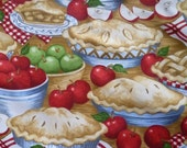 Apple Pies Fabric Timeless Treasures Bake Sale Large FQ