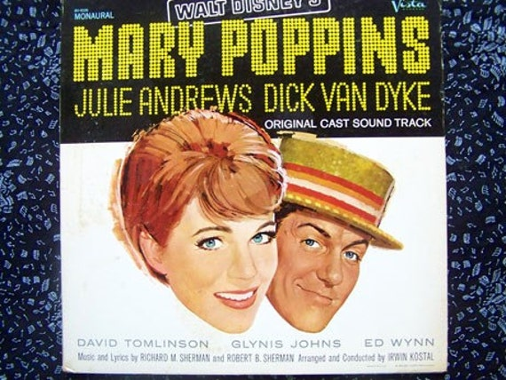 Vintage Vinyl Mary Poppins Soundtrack 1964