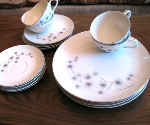 Mid Century Fine China Set - Creative Starburst
