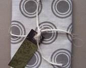Fabric Piece - Warm Grey Concentric Circle