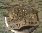 Merry Christmas - Original Art Ornament
