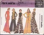 Vintage Pattern - McCall's 3414 Misses Separates: Top, Pants, Jacket & Belt -1973 Size 14 Bust 36 UNCUT Excellent Condition