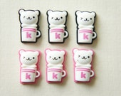 SALE 6 pcs Kawaii Bear Mug Cup Cabochon(15mm24mm) DR014 (((LAST)))