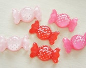 4 pcs Polka Dots clear Candy Candy Cabochon (15mm27mm) CD346 (((LAST)))