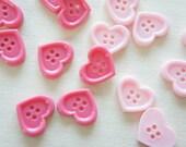8 pcs Heart Button/Cabochon (18mm21mm) IK104