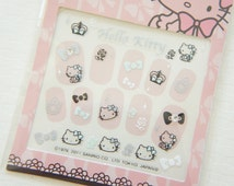 SALE  Stock Hello Kitty Nail Sticker Sheet / Princess Blue
