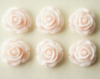 SALE 8 pcs Simple Rose Cabochon (20mm) Baby Pink FL128