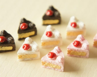 6 pcs Strawberry Short Cake Cabochon (15mm) CK009