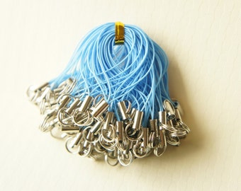 10 pcs Cell Phone Straps with Split Ring Blue (((LAST / no restock))))