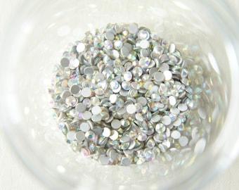 200 pcs Glass Gems/Rhinestones SS12 (3.2mm) AB Crystal (((LAST)))