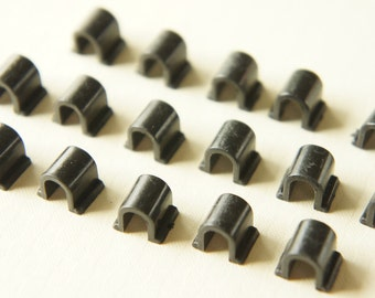 SALE 24 pcs Pony Tail Holder Base  (5mm9mm) Black (((LAST/ no restock)))
