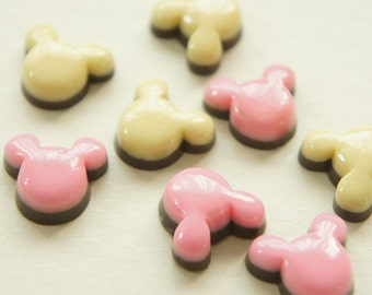 Mouse Shaped Pudding Cabochon (18mm20mm) CD221 (((LAST/no restock)))
